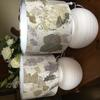 Recycling old lampshades with Ecoprint fabric.