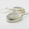 Custom silver and moonstone drop earrings