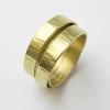 Orbit ring in 18ct gold