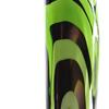 Lime and Black Spiral Tall Triangular Hand Blown Glass Vase