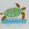 Turtle in the Sea - Float glass turtle and stand, glass frit and powder