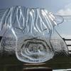 Highland cow, crystal clear Float glass sculpture