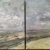 """Dyptch the road to nowhere : mixed Media on box canvas 12""""x24"""": £230"""