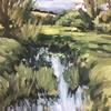 Stream At Cuddington | Oil on board | 30x40cm