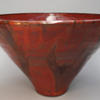 Large bowl in several shades of red
