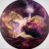 Abstract Acrylic on round canvas 80cm diameter £500.00