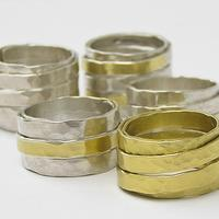 Anna K Baldwin Wrapped silver and gold rings