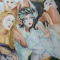 Edinburgh festival Hecate's Friends Oil on canvas 30inches x 40 inches