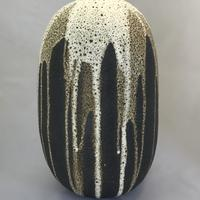 Large bottle with dripping glaze