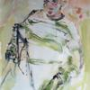 William, my son, in the garden. large watercolour