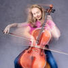 Moving portrait of young cellist