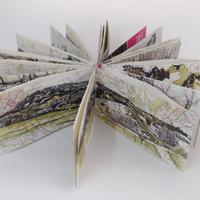 Concertina map sketchbook January-March 2021