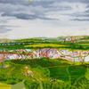 View from Chinnor Hill by Emma Williams oil on canvas 2020