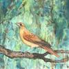 "Original watercolour ""The Nightingale, Golden in the woods"""
