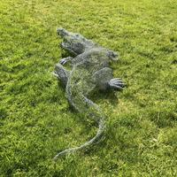 Life sized Crocodile in Wire by Lindsay Waring - commission.