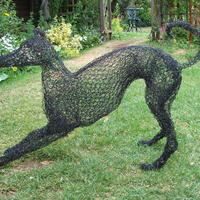 Black Whippet in Wire by Lindsay Waring - sold