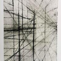Structures Series III, Charcoal on glassine