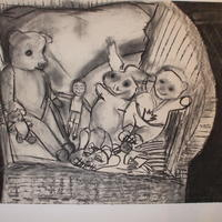 Forgotten Toys (Charcoal on Paper)