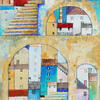 Town Through Arches - Acrylic