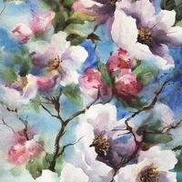 blossom  Contemporary Watercolour painting