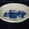 bowl with cobalt oxide