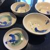 plates and bowls with oxides