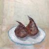 Two pears past their best  Still Life  Oil