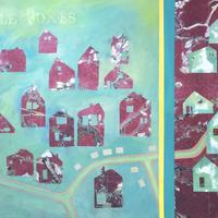 Little Boxes  75cm x 50cm  mixed media on recycled canvas