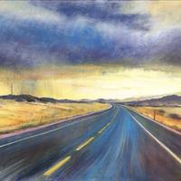 Driving through the storm. 75cm x 50cm  Acrylic