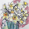 Daffodils, ink and pastel