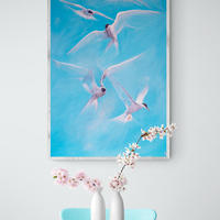 The lift of the Terns- Oils 37x25 inches
