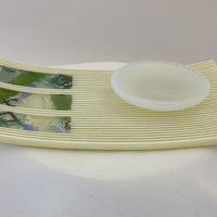 Plate with dipping bowl