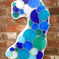Poldhu Spray - Stained Glass wall art by Vitreus Art