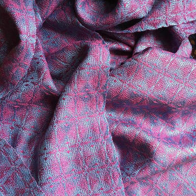 Handwoven Scarf in silk and silk/cashmere