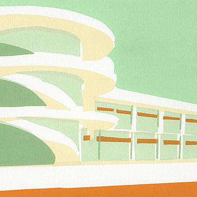 De La Warr Pavillion Screenprint