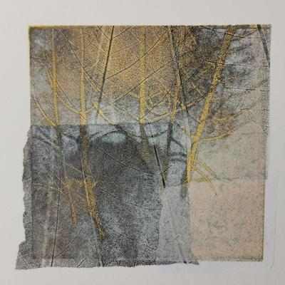 Clearing I, monotype with chine-collé
