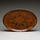 Large red platter with abstract decoration