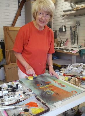 Mitzie in her studio