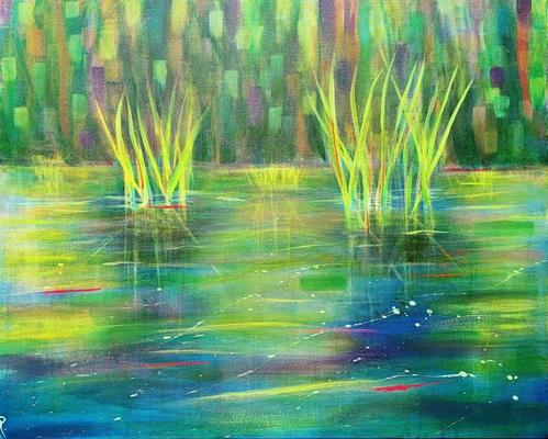 Capturing the tranquillity of a pond in Spring.
