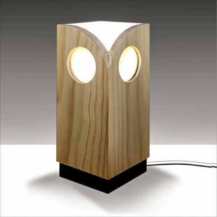 Wooden Owl Light by Brian Kichenside