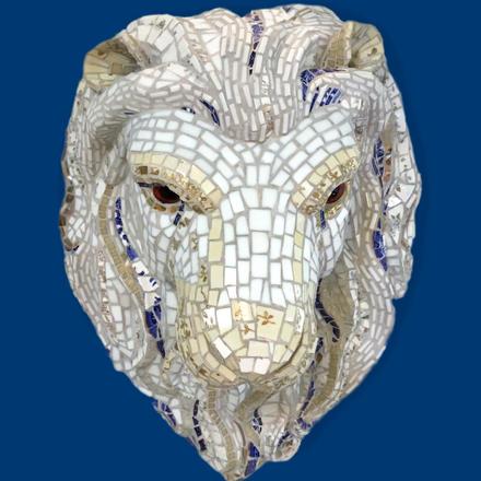 Atlas, Mosaic Sculpture by Deborah Brett