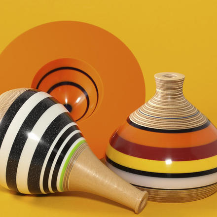 Upcycled Corian bowls and pots by Graham Lester