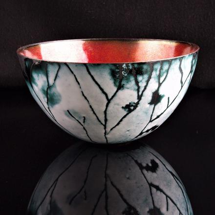 Cathy Timbrell, Large Enamel on Copper Bowl