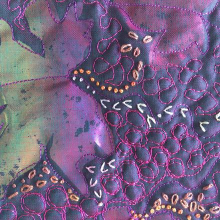 Embroidered bag detail
