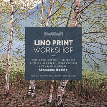 Lino Print Workshop at Stowe House with Alexandra Buckle
