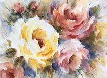 radiant rose water colour painting workshops at Westbury arts centre