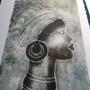 A beautiful collagraph by one of my students